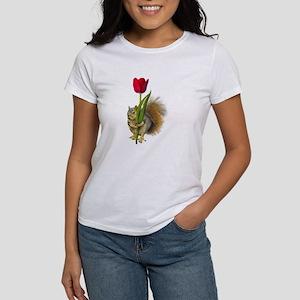 Squirrel Red Tulip Women's T-Shirt