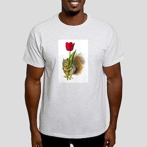 Squirrel Red Tulip Light T-Shirt
