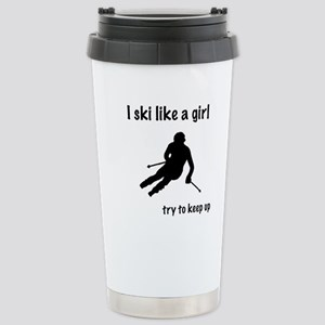 Ski girl Stainless Steel Travel Mug