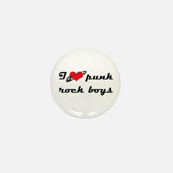 I heart Punk Rock boys Mini Button