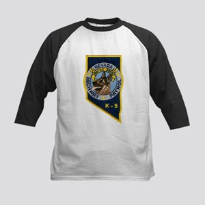 Nevada Highway Patrol K9 Kids Baseball Jersey