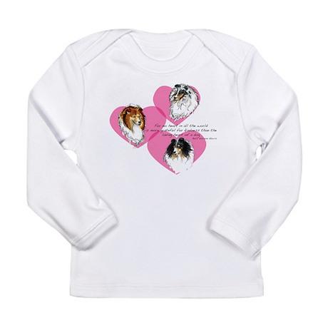 Sheltie Hearts Long Sleeve Infant T-Shirt