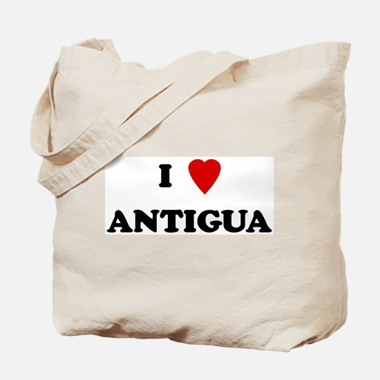 I Love Antigua Tote Bag