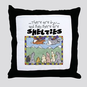 Super Shelties Throw Pillow