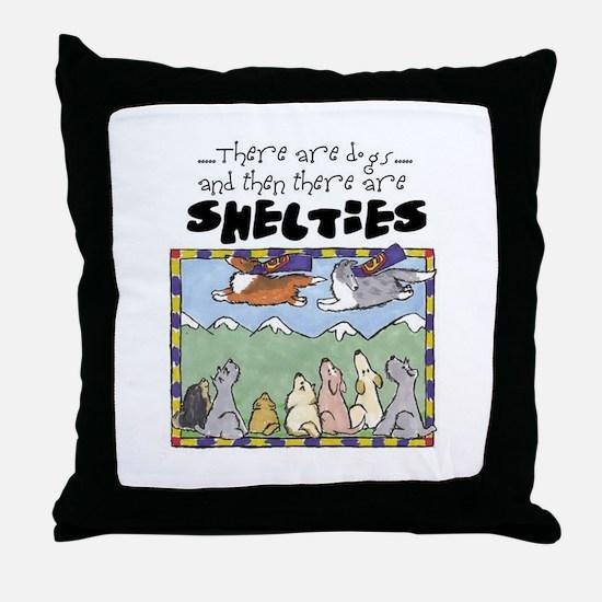 Super Shelties Throw Pillow