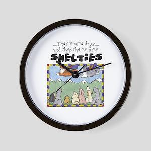 Super Shelties Wall Clock