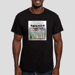 Super Shelties Men's Fitted T-Shirt (dark)