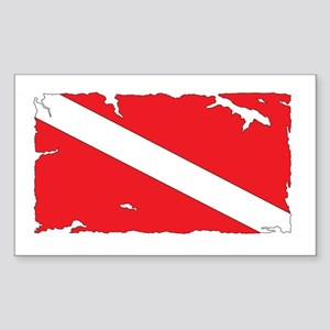 Dive flag #4 Sticker