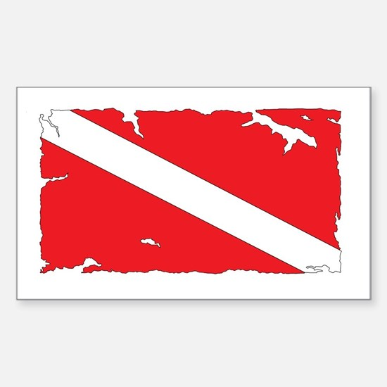 Dive flag #4 Stickers