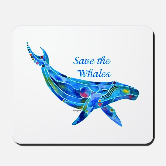 Humpback Save the Whales Mousepad