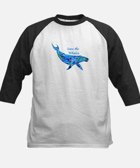 Humpback Save the Whales Kids Baseball Jersey