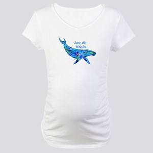 Humpback Save the Whales Maternity T-Shirt