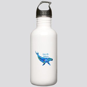 Humpback Save the Whales Stainless Water Bottle 1.