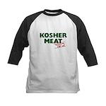 Jewish - Kosher Meat! - Kids Baseball Jersey