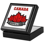 Canadian Pride STRONG & FREE Keepsake Box