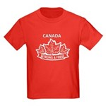 Canadian Pride STRONG & FREE Kids Dark T-Shirt