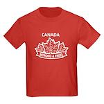Canadian Pride STRONG & FREE Kids Dark T-Shirt