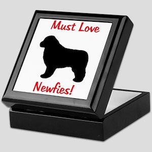 Must Love Newfies! Keepsake Box