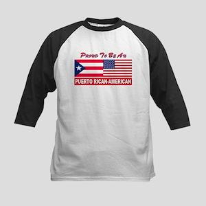Puerto rican pride Kids Baseball Jersey