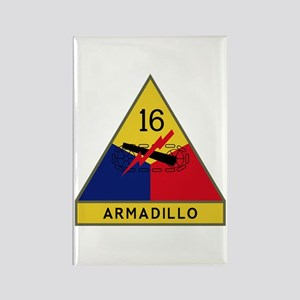 Armadillo Rectangle Magnet