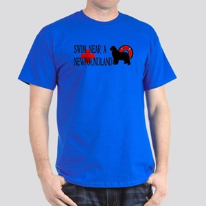 Swim Near A Newfoundland Dark T-Shirt