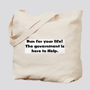 Run for you lives. Tote Bag