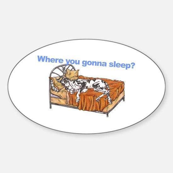 CH Where you gonna sleep Sticker (Oval)