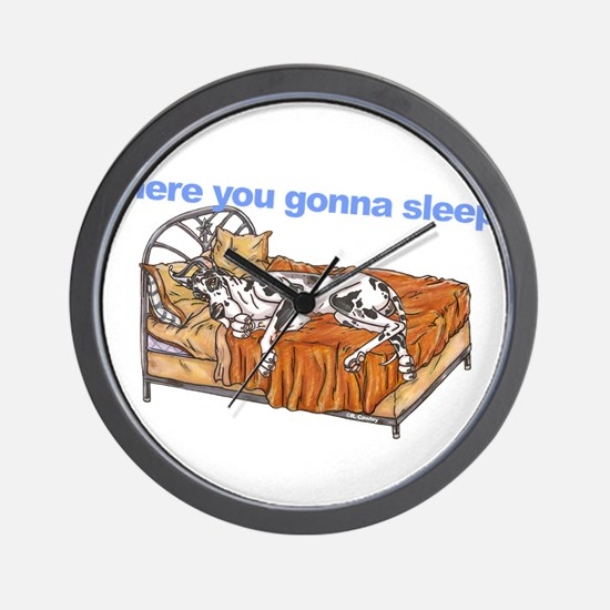 CH Where you gonna sleep Wall Clock