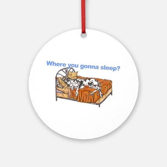 CH Where you gonna sleep Ornament (Round)