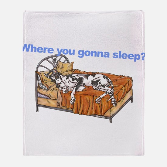 CH Where you gonna sleep Throw Blanket