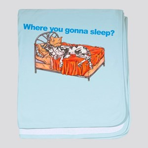 CH Where you gonna sleep baby blanket