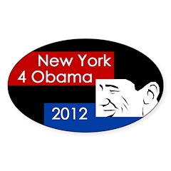 New York 4 Obama 2012 bumper sticker