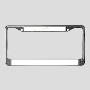 Lime Green Posh License Plate Frame