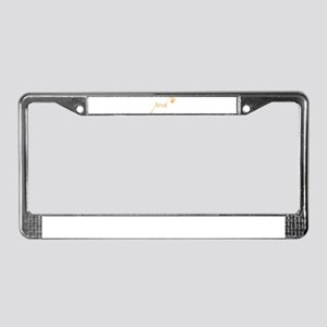 Bright Orange Posh License Plate Frame