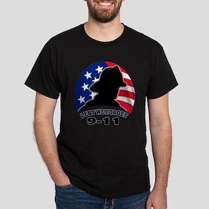 Remember 9-11 Fireman Dark T-Shirt