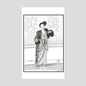 Lina c. 1914 Rectangle Sticker