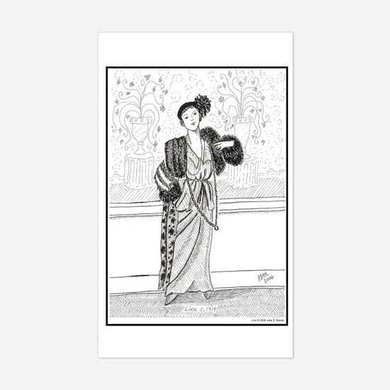 Lina c. 1914 Rectangle Decal