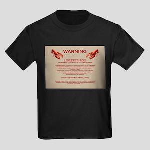 Lobster Pox Warning Kids Dark T-Shirt