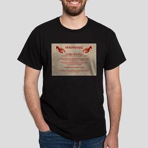 Lobster Pox Warning Dark T-Shirt