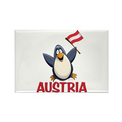 Austria Penguin Rectangle Magnet (100 pack)