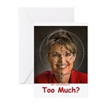 Too Much? Greeting Cards (Pk of 20)