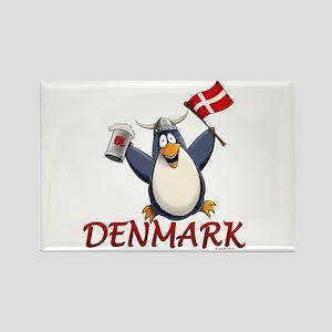 Denmark Penguin Rectangle Magnet