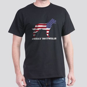 American Rottweiler Dog Flag Memorial Day T-Shirt