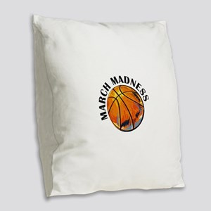 march madness Burlap Throw Pillow