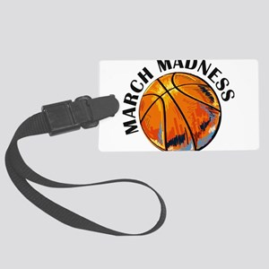 march madness Large Luggage Tag