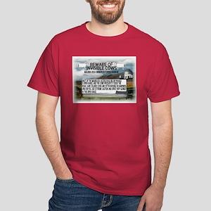 Invisible Cows Sign Dark T-Shirt