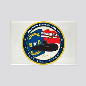 USS (PCU) North Carolina SSN 777 Rectangle Magnet