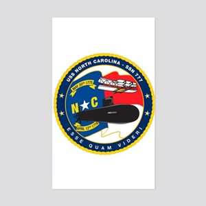 USS (PCU) North Carolina Rectangle Sticker