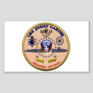 USS Jimmy Carter SSN 23 Rectangle Sticker
