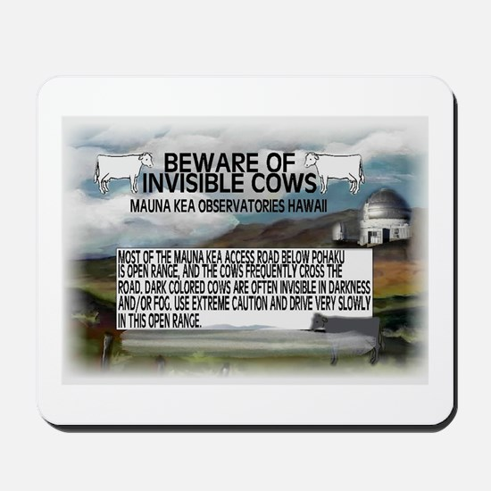 Invisible Cows Sign Mousepad